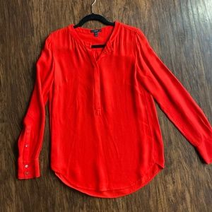 J Crew Long Sleeve Blouse in Red